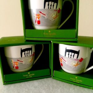Kate Spade boxed coffee mugs set of 3